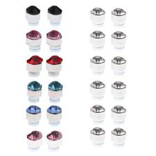 Glitter Crystal 12 Pairs Mixed Color Magnets Earrings No Piercing Ear Stud