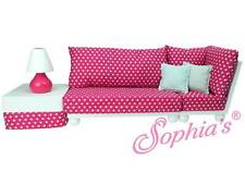 """Love Seat Sofa Sectional Set Couch Furniture for 18"""" American Girl Dolls"""