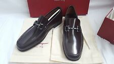 New Authentic Salvatore Ferragamo Loafers Giordano Brown Leather Man Shoes