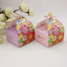 100x Sweet Love Chocolate Cookie Candy Box Flower Gift Boxes Wedding Party Favor
