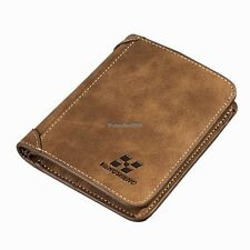 Men PU Leather Coin Purse Pockets Card Holder Clutch Wallet ED01