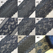 9 Pattern Black Stretch Floral Lace For Lingerie,Headband,Gloves,Lace Bow zhd14