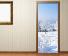 Door Sticker Snow Landscape Winter door Film Wallpaper Poster Sticker 15A758
