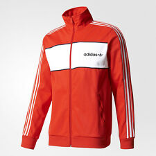 adidas Originals Block Full Zip Track Jacket NEW men BK7840 red navy white