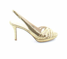Nine West New Jakana Gold Womens Shoes Size 7.5 M Heels MSRP $130
