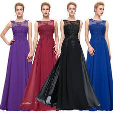 Long Chiffon Evening Dresses Engagement Party Gowns Formal Bridesmaid Prom Dress
