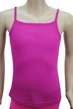 Girls Ex George Vest Camisole Top Cotton Ribbed Violet Age 4 to 12 Years Kids