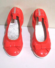 Lelli Kelly USA Coral Neon Patent Leather Little Girls Shoes Flats NIB 28 10 USA