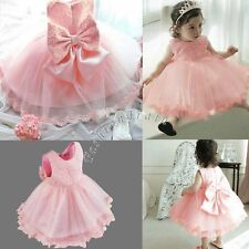 Baby Girl Clothes Flower Princess Wedding Party Pageant Sequins Fancy Tutu Dress