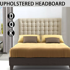 Bed Frame Headboard Upholstered Fabric Button Tufted Double Queen King Bedhead