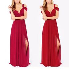 Women Summer Evening Party Prom Wedding Skirt Solid Beach Long Maxi Dresses