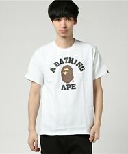 A BATHING APE COLLEGE TEE 4 color FROM JAPAN BAPE Authentic