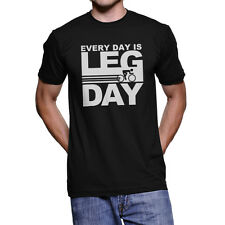 Every Day is Leg Day American Apparel T-Shirt Mens Funny Bicycle Cycling Shirt