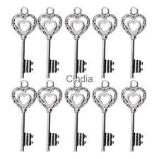 10pcs Sliver/Bronze Metal DIY Jewelry Key Steampunk DIY Craft Charms
