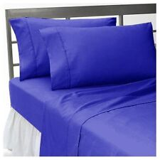 1200 TC Egyptian Cotton All Bedding Items Queen Size Egyptian Blue Solid