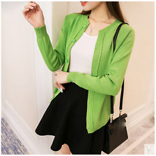 new Autumn Korean fashion leisure loose cardigan thin Knitting sweater coat