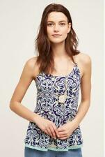 Anthropologie NWT Nuria Swing Tank by Meadow Rue Size Large Blue Motif New