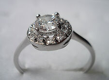 Princes Sz 6-9 New Brand lady's white sapphire 10k Real white gold filled ring