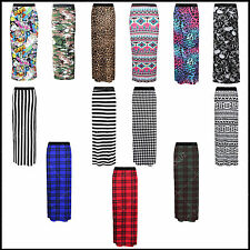 Ladies Womens Sexy Gypsy Maxi Skirt Printed Hot Hen Night Dance Party Costume ■