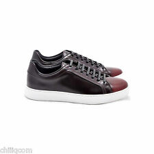 DIOR HOMME 675$ Burgundy Red Degrade Calfskin Low Top Sneakers