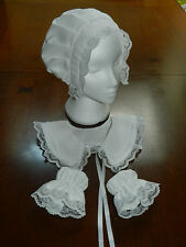 GIRLS, LADIES, VICTORIAN BONNET SET, FLORENCE NIGHTINGALE COSTUME, FANCY DRESS