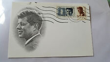 Original JFK Memorial Postcard - Double Stamped .13 First Day Card - 5/29/67