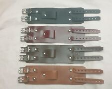 Leather Depp style wrist band cuff Bracelet Elliott smith steam wristband strap