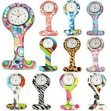 Numer Pattern Silicone Nurses Brooch Tunic Fob Pocket Watch Stainless Dial Beamy