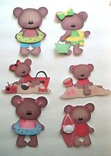 3D- U Pick- SM2 Summer Beach Pool Bear Water Fun  Card Scrapbook Embellishment