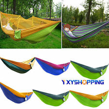 Portable Two Person Hanging Hammock Cotton Rope Swing Fabric Camping Outdoor Bed
