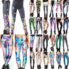Womens Printed Compression Fitness Yoga Leggings Funky Pencil Pants Gym Clothes