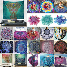 Bohemian Tapestry Wall Hanging Beach Yoga Mat Decor Boho Bedspread Shawls Wraps