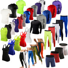 Unisex Sports Compression Base Layers Gym Tops Tight T-Shirt Vests Pants Shorts