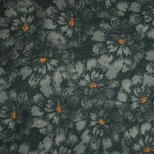 Quilt Fabric Cotton Calico Quilting FQ Grey Teal Floral by Heidi Beth Designs
