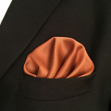 """CH16 Suit Solid Orange Pocket Square For Man 12.6"""" Classic Hanky 100% Silk"""