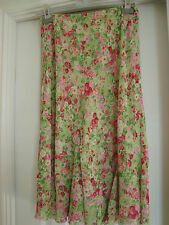 NEW W/Tag Green/pinks MARKS & SPENCER 'Per Una' SKIRT - Size 12