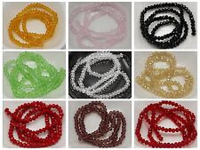 150 Pcs Faceted Rondelle Bead Crystal Glass Beads 3X4mm Color for Choice