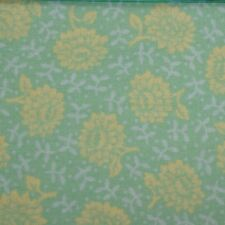 Quilting Fabric Cotton Calico Quilt FQ Green Yellow Floral Cranston Cut-to-Order