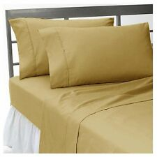 1200 TC Egyptian Cotton All Bedding Items UK-Small Double Size Taupe Solid