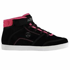 Airwalk Malibu Mid Top Skate Shoes Womens Black/Pink Trainers Sneakers Footwear