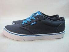 Mens Vans Atwood Low Canvas Shoes Blue Lace Up Trainers