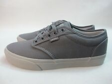 Mens Vans Atwood Low Canvas Shoes Grey Lace Up Trainers