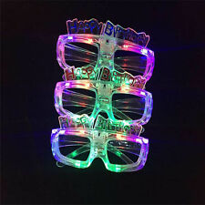 LED Shutter Light Up Shades Flashing happy birthday LED Glasses Assorted Color