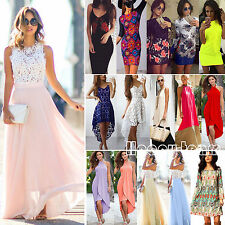 Womens Maxi Boho Long Dress Summer Casual Evening Cocktail Party Beach Sundress