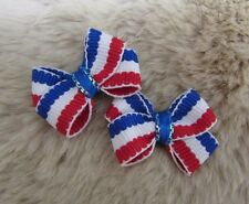 "Mo's USA Dog Bows -3/8"" tiny dog bows xx-sm - Teacup Maltese Shih-Tzu Yorkie+"