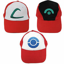 Pokemon Trainer Satoshi ASH KETCHUM Embroidered Anime Costume Hat Cosplay Cap