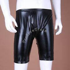 Sexy Mens Patent Leather Pouch Boxer Briefs Shorts Wetlook Underpants Underwear