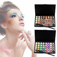 Pro 40 Colors Eyeshadow Pallete Makeup Shimmer Eye shadow Palette Brush Set