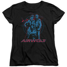 Airwolf TV Show Cast GRAPHIC Licensed Women's T-Shirt All Sizes