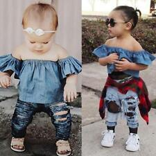 Newborn Infant Baby Girl Clothes Off Shoulder Summer Party Tops Blouse